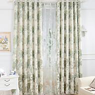 Dois Painéis Tratamento janela Europeu , Flor Quarto Linho/Mistura de Algodão Material Cortinas Blackout Decoração para casa For Janela