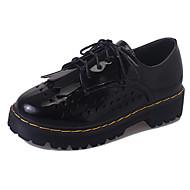 Damen-Loafers & Slip-Ons-Outddor Büro Lässig-PU-Flacher Absatz-Komfort-Weiß Schwarz