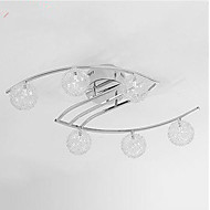 Flush Mount ,  Modern/Contemporary Chrome Feature for LED Metal Living Room Bedroom Study Room/Office Kids Room