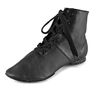 Customizable Women's Men's Dance Shoes Leather Jazz Boots Sneakers Split Sole Chunky Heel Professional