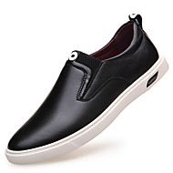 Men's Loafers & Slip-Ons Spring Summer Fall Winter Comfort Leather Outdoor Office & Career Casual Party & Evening Flat Heel Lace-upBlack