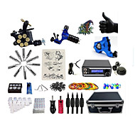 Complete Tattoo Kit 3  Machines Giftware With LED Dual Digital Power Supply  liner & shader