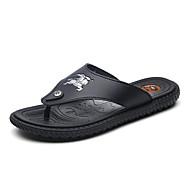 Herre-PU-Flat hæl-Komfort Lette såler-Tøfler og flip-flops-Friluft Fritid