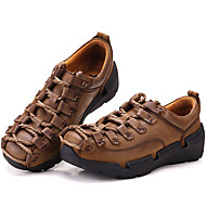 Men's Oxfords Spring Summer Fall Winter Comfort Nappa Leather Outdoor Office & Career Party & Evening Casual Work & Safety Ruffles Brown