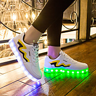 Sneakers-Tyl Mikrofiber-Komfort Light Up Sko-Unisex-Gul Rød-Fritid-Flad hæl