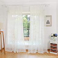 To paneler Window Treatment Blomsternål i krystall Soverom Polyester Materiale Gardiner Skygge Hjem Dekor For Vindu