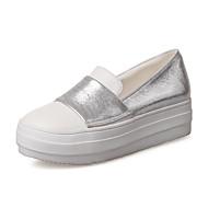 Damen-Sneaker-Büro Kleid Lässig-PU-Flacher Absatz-Andere-Gold Schwarz Silber
