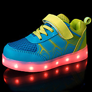 Para Meninos-Tênis-Conforto Light Up Shoes-Rasteiro-Azul Rosa-Couro Ecológico-Casual Para Esporte
