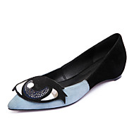 Women's Flats Spring Summer Fall Winter Club Shoes Cashmere Outdoor Dress Casual Flat Heel Others Blue Pink
