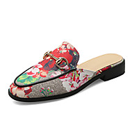 Slippers & Flip-Flops Spring Summer Fall Slingback PU Dress Casual Low Heel Flower Green Red