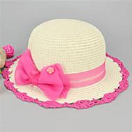 gyerek aranyos szalma bowknot kalap 3-8 év