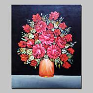 Ручная роспись Натюрморт Цветочные мотивы/ботанический Вертикальная,Modern Европейский стиль 1 панель Холст Hang-роспись маслом For