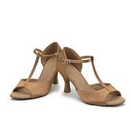 Chaussures de danse(Noir Bleu Marron Violet Rouge Marron foncé) -Personnalisables-Talon Bobine-Satin-Latines
