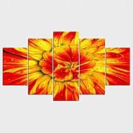 Humor Pejzaże Kwiatowy/Roślinny Nowoczesny,Pięć paneli Płótno Wszelkie Kształt Art Print wall Decor For Dekoracja domowa