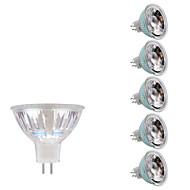 3W GU5.3(MR16) LED szpotlámpák MR16 1 COB 230/240 lm Meleg fehér Hideg fehér DC 12 AC 12 V 6 db.
