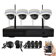 yanse® 1.3MP visão pnp kit NVR sem fio IR Night 15led ip wi-fi sistema de câmera de CCTV