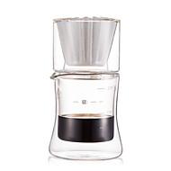 200 ml  Glass Coffee Maker Set , 2 cups Drip Coffee Maker Reusable