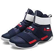 Men's Spring Summer Fall Comfort Fabric Outdoor Athletic Flat Heel Magic Tape Lace-up Basketball Shoes