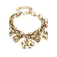 Armbanden met ketting en sluiting Modieus Legering Hartvorm Goud Zilver Sieraden Voor Halloween 1 stuks