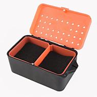 rot Wurmkiste Regenwurm Box Multifunktions - mit Schwamm Regenwurm Box kühlen Fischen Köderdose