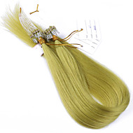 10a melhores extensões de cabelo cabelo de qualidade anel de micro laço do cabelo virgem Kinky em linha reta 100g virgem extensão do