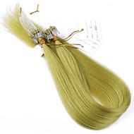 10a beste Qualität Haar Mikroschleifenringhaarverlängerungen reines Haar verworrene gerade 100g reines brasilianisches Haar der