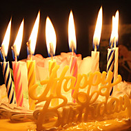 Happy Birthday Candle Sets Fashion Spiral Birthday Candles