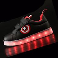 Sneakers-PU-KomfortSort Hvid-Sport-Flad hæl