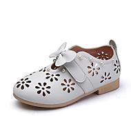 Flower Girl Shoes-Lapos-Női cipő-Lapos-Esküvői Szabadidős Irodai Ruha Alkalmi Party és Estélyi-Bőrutánzat-Rózsaszín Fehér