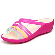 Hole cipő-Parafa-Női cipő-Papucs és papucs-Szabadidős Alkalmi-PU-Fekete Barna Lila Piros Arany