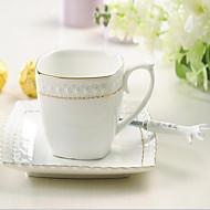 Minimalismus Trinkbecher, 300 ml Einfache geometrische Muster Dekoration Keramik Tee Kaffee Gläser und Tassen für den täglichen Gebrauch