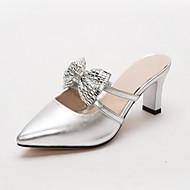 Damen-High Heels-Hochzeit Büro Lässig Party & Festivität Kleid-Kunstleder PU-Stöckelabsatz-Komfort Neuheit-Gold Silber Rot Rosa