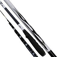Fishing Rod Telespin Rod Carbon steel 450 M General Fishing Rod Black