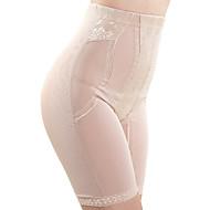 Women's Sexy Jacquard Maternity Postpartum Slimming Corset High Waist Elasticity Nylon Beige/Black Shaping Panties