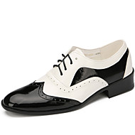 Men's Dance Shoes Leather Leatherette Patent Leather Synthetic Leather Leatherette Patent Leather SyntheticDance