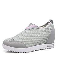 Damen-Sneaker-Büro Lässig Sportlich-Tüll-Creepers-Creepers Komfort-Lila Grau Pfirsich