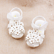 Baby Flats Summer Comfort Leatherette Outdoor Casual Flat Heel Applique Magic Tape White Yellow Pink Walking