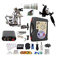 Kompletní Tattoo Kit 2 x tetovací strojek pro linky a stínování z oceli 2 Tetovací strojky Mini napájení Inkousty doručena odděleně