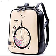 Women PU Casual Backpack