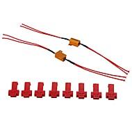 2 Sätze Motorrad LED-Signal Widerstände Flash-Controller 12v, 25w drehen