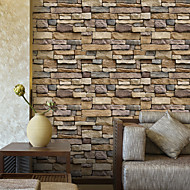幾何学柄 3D ホームのための壁紙 現代風 ウォールカバーリング , PVC /ビニール 材料 自粘型 壁紙 , ルームWallcovering