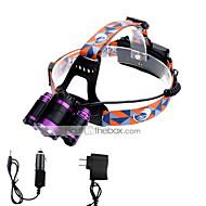 Hodelykter LED 6000 Lumens 4.0 Modus Cree XP-G R5 Cree XM-L T6 18650 Justerbart Fokus KompaktstørrelseCamping/Vandring/Grotte Udforskning