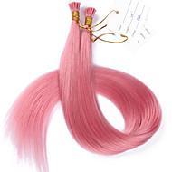 #pink i ponta extensões de cabelo cabelo humano europeu i ponta extensões 100strand / lot melhor qualidade i ponta 1g / cadeia