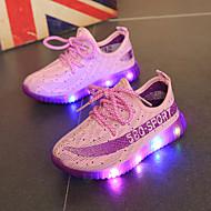 Mädchen Sportschuhe Leuchtende LED-Schuhe Tüll Frühling Herbst Normal Schnürsenkel Orange Purpur Rot Blau Unter 2,5 cm