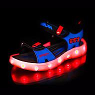 Extérieure-Noir Gris Bleu marine-Talon Plat-Light Up Chaussures-Sandales-Cuir Nappa