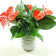 1 Větev Umělá hmota PU Rostliny Květina na stůl Umělé květiny 20*32