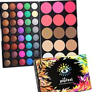 40 Color Eyeshadow + 15 Color Face Blush&Concealer Contour /Contourקונסילר סומק שימר וברונזר+צלליות יבש רטוב מט מנצנצים עיניים פניםמורחב