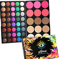 40 Color Eyeshadow + 15 Color Face Blush&Concealer Contour Korektor/Contour Zdravíčka Rozjasňovače a bronzery+Oční stínySuché mokrý Matné