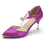 נשים-עקבים-עור פטנט חומרים בהתאמה אישית-שפיץ ושני חלקים נעלי מועדון-לבן פוקסיה כחול-חתונה שמלה מסיבה וערב-עקב סטילטו