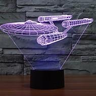7 farveskift 3d trek stjerne slagskib lys farverige førte dekorative lys visuel atmosfære røre switch lys